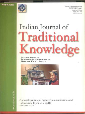 Indian Journal of Traditional Knowledge (IJTK) template (NISCAIR Publications)