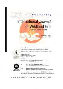 International Journal of Wildland Fire template (CSIRO Publishing)
