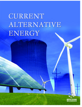 Current Alternative Energy template (Bentham Science)