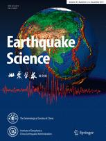 Earthquake Science template (Springer)
