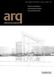 arq: Architectural Research Quarterly template (Cambridge University Press)