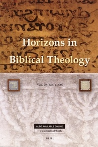 Horizons in Biblical Theology template (Brill)