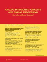 Analog Integrated Circuits and Signal Processing template (Springer)