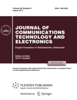 Journal of Communications Technology and Electronics template (Springer)