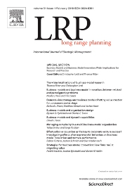 Long Range Planning template (Elsevier)