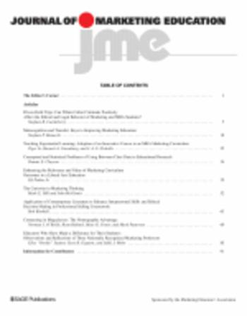 Journal of Marketing Education template (SAGE)