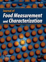 Journal of Food Measurement and Characterization template (Springer)
