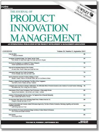 Journal of Product Innovation Management template (Wiley)