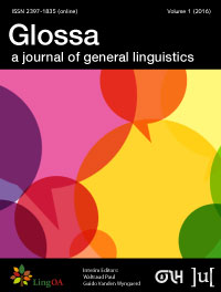 Glossa: a journal of general linguistics template (Ubiquity Press)