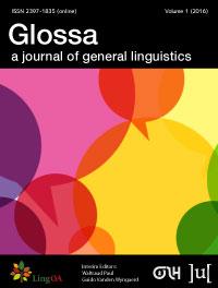 Glossa: a journal of general linguistics template (Ubiquity Press)