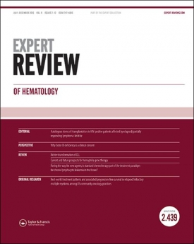 Expert Review of Hematology template (Taylor and Francis)