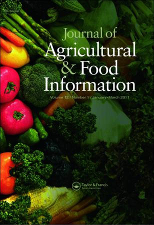 Journal of Agricultural and Food Information template (Taylor and Francis)