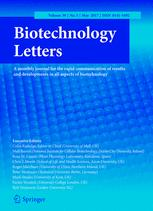 Biotechnology Letters template (Springer)