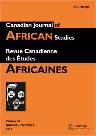Canadian Journal of African Studies / Revue canadienne des études africaines template (Taylor and Francis)