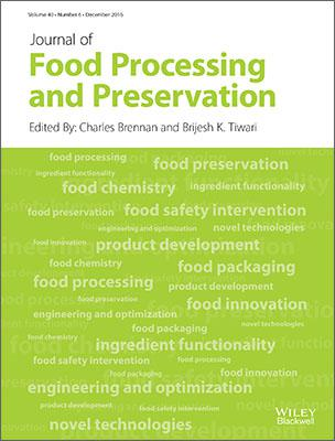 Journal of Food Processing and Preservation template (Wiley)