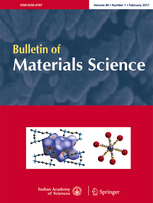 Bulletin of Materials Science template (Springer)