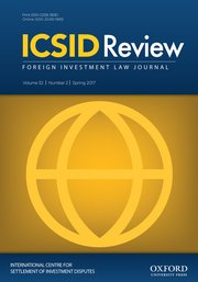 ICSID Review - Foreign Investment Law Journal template (Oxford University Press)