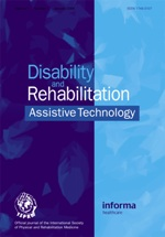 Disability and Rehabilitation: Assistive Technology template (Taylor and Francis)