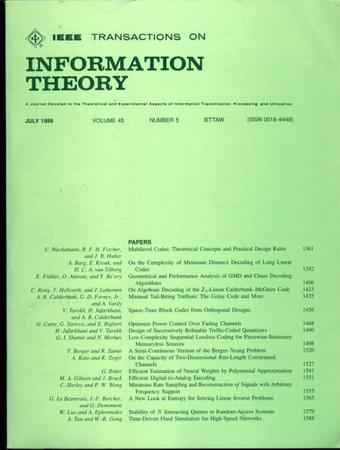 IEEE Transactions on Information Theory template (IEEE)