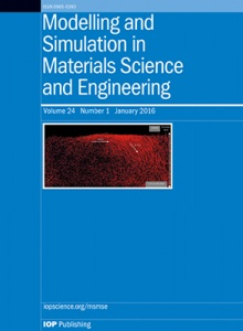 Modelling and Simulation in Materials Science and Engineering template (IOP Publishing)
