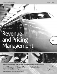 Journal of Revenue and Pricing Management template (Springer)