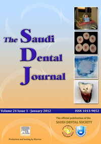The Saudi Dental Journal template (Elsevier)