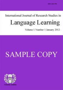International Journal of Research Studies in Language Learning (IJRSLL) template (Consortia Academia)