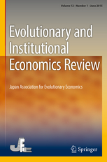 Evolutionary and Institutional Economics Review template (Springer)