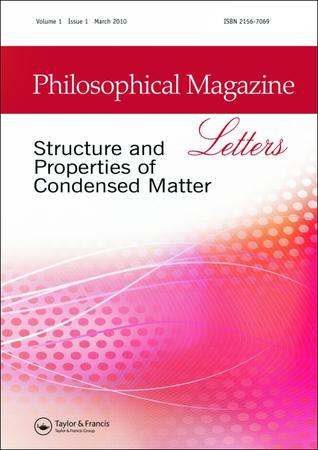 Philosophical Magazine Letters template (Taylor and Francis)