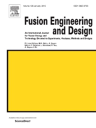 Fusion Engineering and Design template (Elsevier)