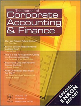 Journal of Corporate Accounting & Finance template (Wiley)