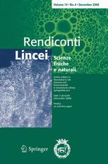 Rendiconti Lincei template (Springer)