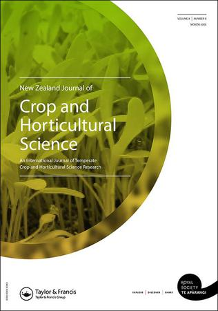 New Zealand Journal of Crop and Horticultural Science template (Taylor and Francis)