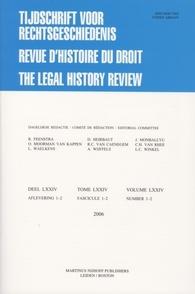 Tijdschrift voor Rechtsgeschiedenis / Revue d'Histoire du Droit / The Legal History Review template (Brill)