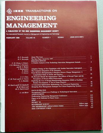 IEEE Transactions on Engineering Management template (IEEE)