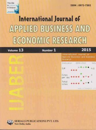 International Journal of Applied Business and Economic Research template (Serials Publications)