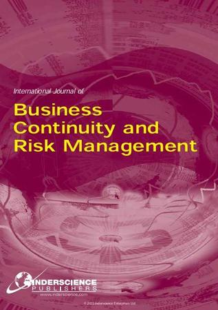 International Journal of Business Continuity and Risk Management template (Inderscience Publishers)