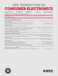 IEEE Transactions on Consumer Electronics template (IEEE)