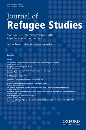 Journal of Refugee Studies template (Oxford University Press)