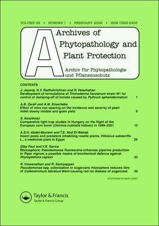 Archives of Phytopathology and Plant Protection template (Taylor and Francis)