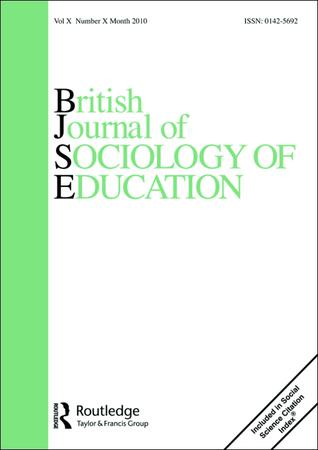 British Journal of Sociology of Education template (Taylor and Francis)
