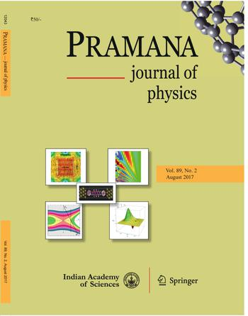 Pramana - Journal of Physics template (Indian Academy of Sciences)