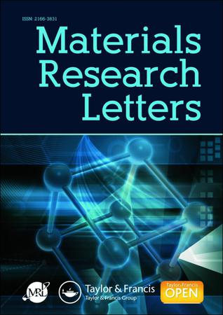 Materials Research Letters template (Taylor and Francis)