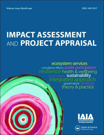 Impact Assessment and Project Appraisal template (Taylor and Francis)