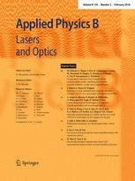 Applied Physics B template (Springer)
