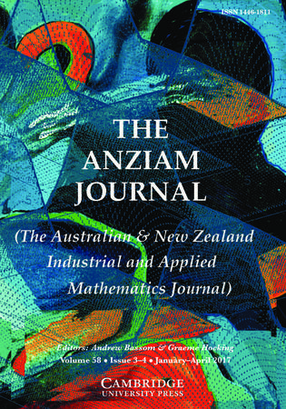 The ANZIAM Journal template (Cambridge University Press)
