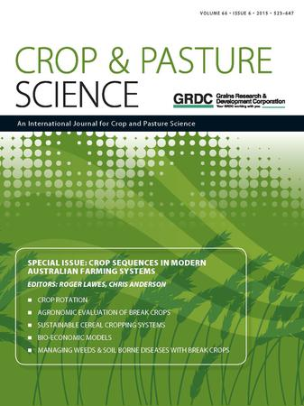 Crop and Pasture Science template (CSIRO Publishing)