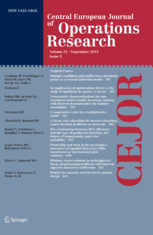 Central European Journal of Operations Research template (Springer)