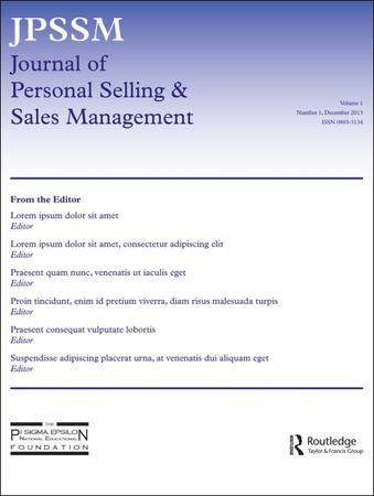 Journal of Personal Selling and Sales Management template (Taylor and Francis)