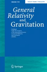 General Relativity and Gravitation template (Springer)